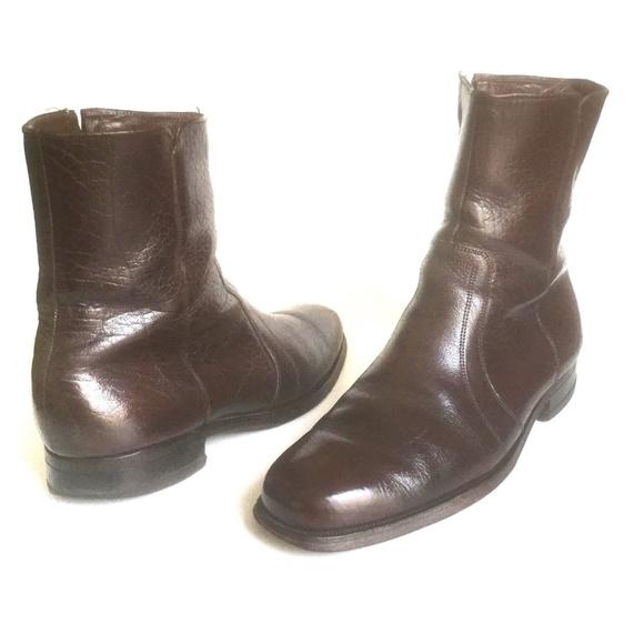 50e80dc274edd Mens Vintage Florsheim Boots Brown Leather 6.5 D